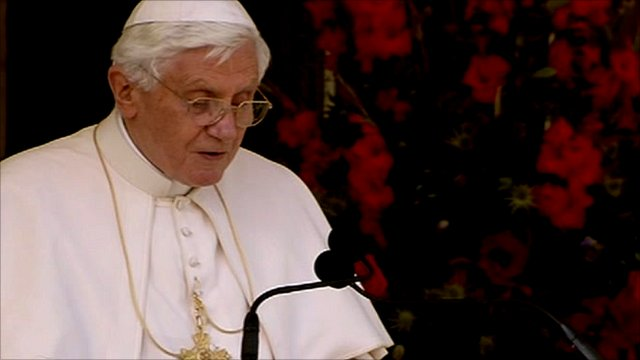 Pope Benedict makes address