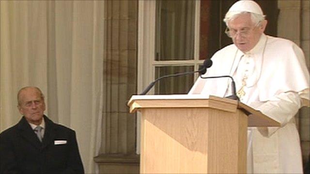 Pope Benedict and the Duke of Edinburgh