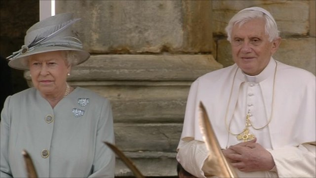 The Queen and Pope Benedict