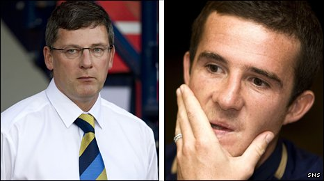 Scotland manager Craig Levein (left) and midfielder Barry Ferguson
