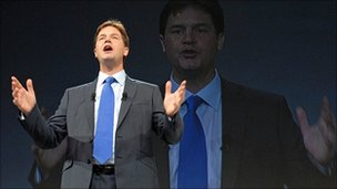 Nick Clegg at the 2008 Lib Dem conference