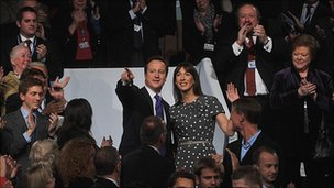 David and Samantha Cameron at the 2009 Conservative conference