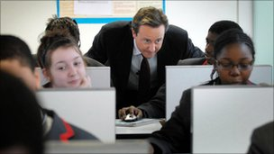 David Cameron visiting an Academy