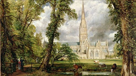 View of Salisbury Cathedral from the Bishop's Grounds, by John Constable