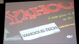yahoo is tech sign