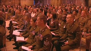 ARRC soldiers attending welcome service