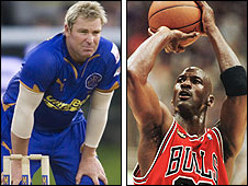 Shane Warne and Michael Jordan