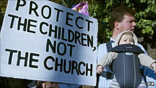 UK clerical sex-abuse protester, 17 September 2010