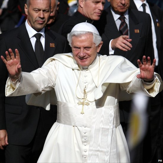 Picture of an idiot Nazi: the Pope