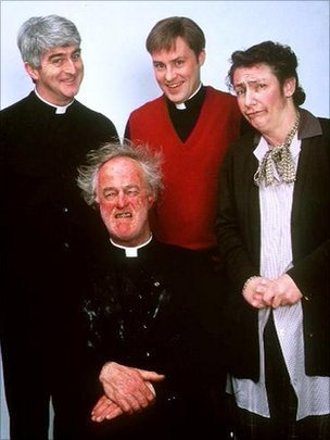 The stars of Father Ted