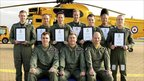 The prince with the other pilots on the course at RAF Valley on Anglesey (Pic: Ministry of Defence)