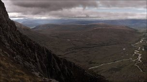 The Scottish Cairngorms mountains