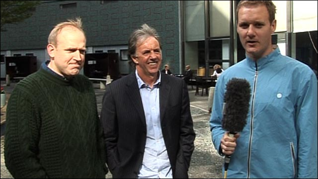 Tim Vine, Mark Lawrenson and Dan Walker