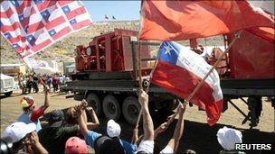 Drill reaches trapped men in Chile mine