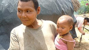 Nukak woman and baby