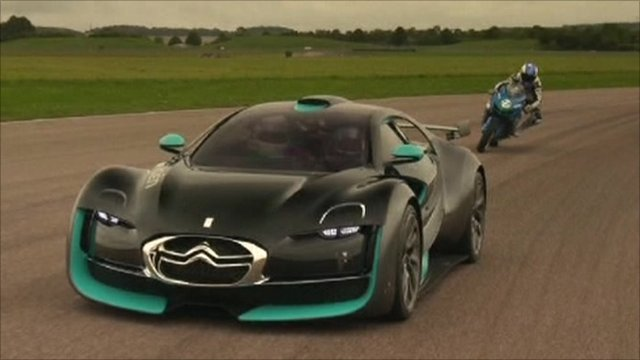 Electric racing car and motorbike