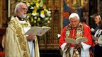 The Archbishop of Canterbury, Dr Rowan Williams, and Pope Benedict XVI at Westminster Abbey