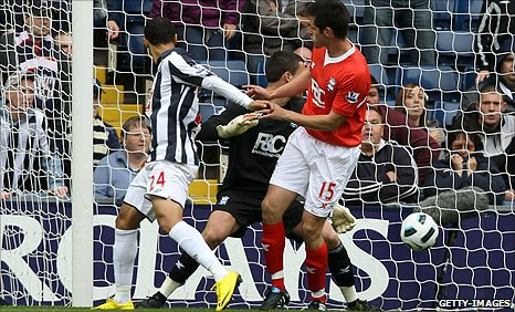 West Brom draw level after Scott Dann's own goal