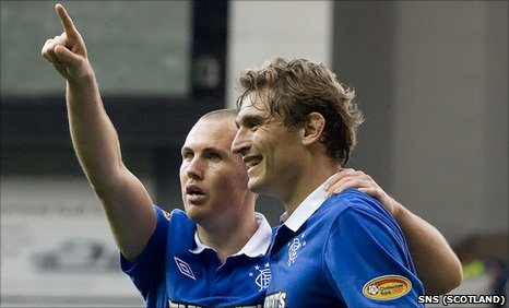 Rangers strikers Kenny Miller and Nikica Jelavic