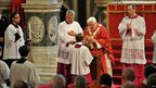 Pope Benedict leads Holy Communion