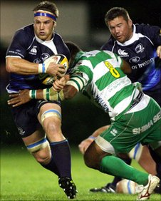 Sean O'Brien is tackled by Manoa Vosawai