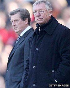 Roy Hodgson and Sir Alex Ferguson