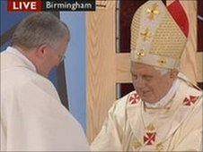 Archbishop Bernard Longley and Pope Benedict XVI