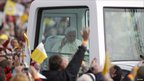 The Pope in the Popemobile