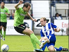 Anthony Stokes stamps on Jamie Hamill's shin