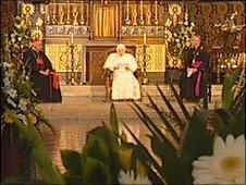 Pope Benedict at Oscott College