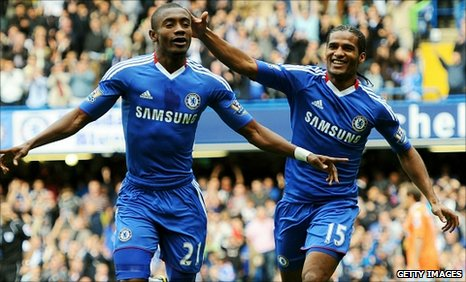 Salomon Kalou (left) and Florent Malouda were both on the scoresheet