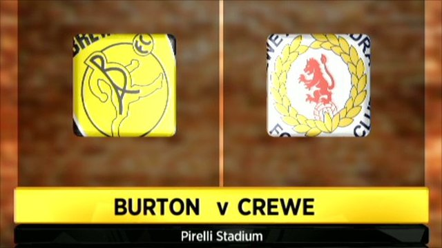 Burton 1-1 Crewe