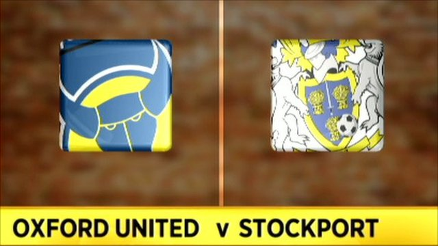Oxford 0-1 Stockport
