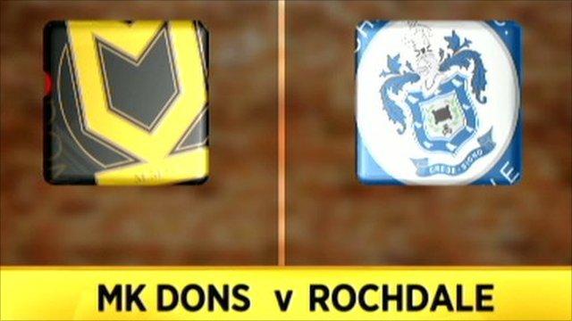 MK Dons 1-1 Rochdale