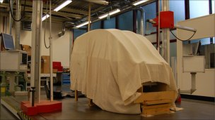 Design study under wraps in Gordon Murray Design's workshop