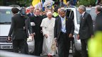 Pope outside the Birmingham Oratory