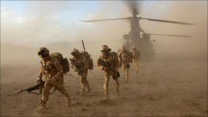 UK troops leave Helmand's Sangin