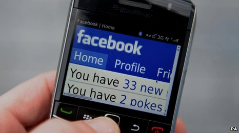 Mobile phone with Facebook app