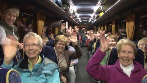 Coach passengers