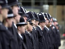 Police recruits that have enlisted to join the Metropolitan Police Force