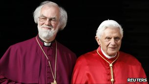 The Archbishop of Canterbury with Pope Benedict XVI