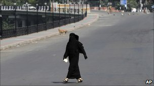 Woman in Srinagar