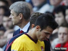 Arsene Wenger (left) and Cesc Fabregas