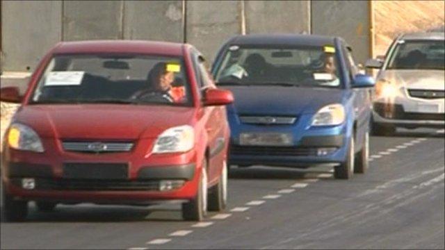 New cars enter Gaza