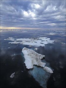 Melting ice in the Beaufort Sea