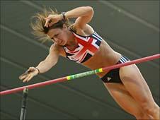 Pole vaulter Kate Dennison
