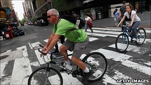 Cyclists in New York
