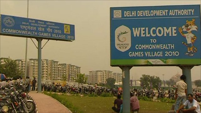 Exterior of Commonwealth Games village