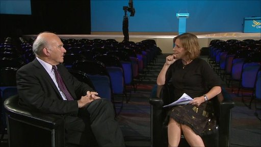 Vince Cable and Kirsty Wark