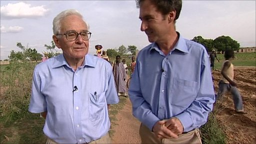 Former colonial officer John Smith with Newsnight's Tim Whewell